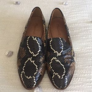 Madewell Snake Embossed Frances Loafers